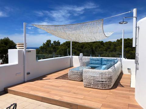 Ibiza modernes Ferienhaus mit Pool in Cala Vadella (Nr. 0129)