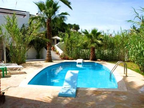 Ibiza strandnahes Ferienhaus mit Pool, Cala Tarida  (Nr. 0130)