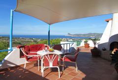 Ferienhaus mit Pool und Meerblick - Ibiza Cala Comte (0045)