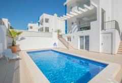 Strandnahes, modernes Ferienhaus mit Pool (Nr. 0129)