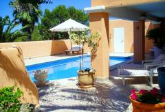 Strandnahes Ferienhaus mit Pool - Cala Tarida  (Nr. 0150.2)