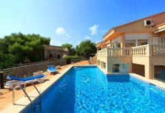 Klimatisierte Villa mit Pool am Strand von Cala Marsal (Nr. 3115)