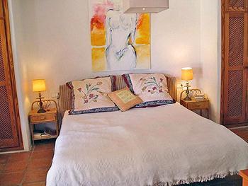 Schlafzimmer im Anbau der Finca