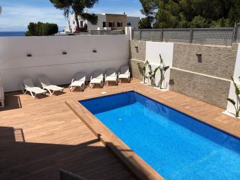 Ferienhaus mit Pool - Cala Vadella