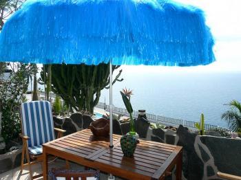 Terrasse vom Studio B mit Meer