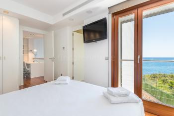 Schlafzimmer mit Bad en Suite, Klimaanlage