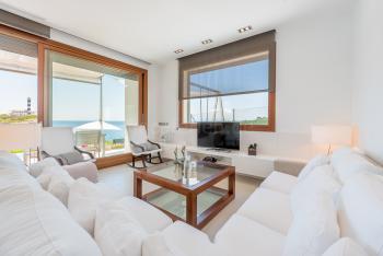 Wohnzimmer mit Internet W-LAN und Sat-TV