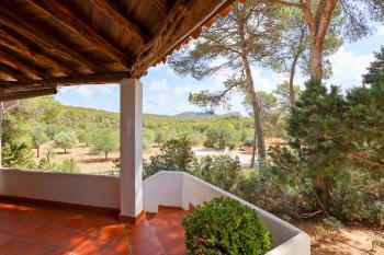 Terrasse und Blick in den Garten