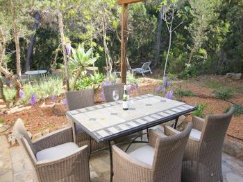 Gartenterrasse der Ferienwohnung