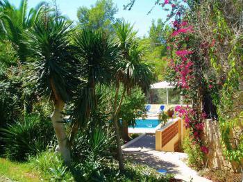 Studio mit Pool und Garten - Santa Eulalia