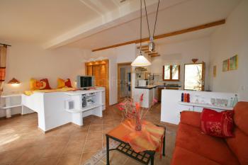Offener Wohn-/Schlafbereich mit Küche