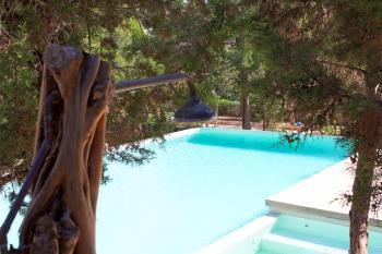 Außendusche am Pool